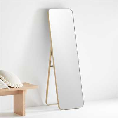 Edge Brass Standing Mirror - Crate and Barrel