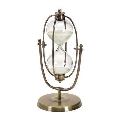 Metal and Glass 30 Minute Hourglass - Wayfair