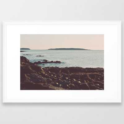 Low Tide - Ocean Art Framed Art Print by Olivia Joy St.claire - Cozy Home Decor, - Scoop White - LARGE (Gallery)-26x38 - Society6