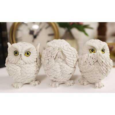 3 Piece Carder Fat Baby Owls Figurine Set - Wayfair