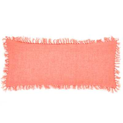 Pine Cone Hill Laundered Linen Lumbar Pillow Color: Coral - Perigold