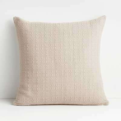 """Bari 20"""" Pure Cashmere Knitted Pillow with Down-Alternative Insert - Crate and Barrel"""
