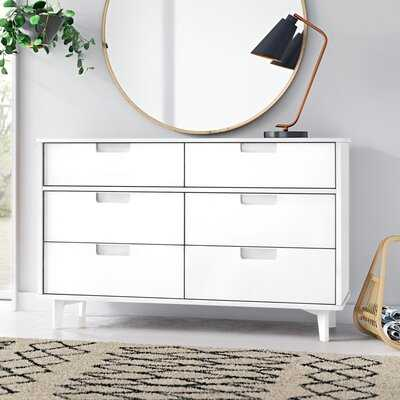 Stephenson Groove 6 Drawer Double Dresser - AllModern