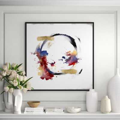 JBass Grand Gallery Collection 'Abstract Circle' - Framed Oil Painting Print on Canvas - Perigold