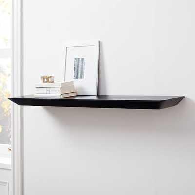 Slim Floating Shelves, Black, 4' - West Elm