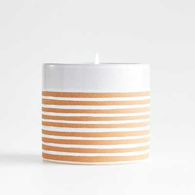 Ilaria Tall Ceramic Scented Candle - Crate and Barrel