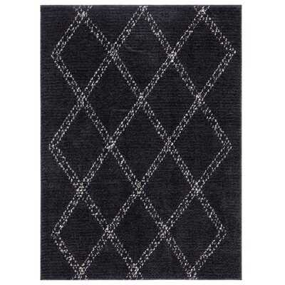 Amador Geometric Black Area Rug - Wayfair