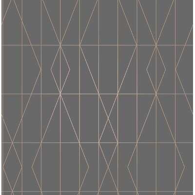"""Kristin Diamond Geo 33' L x 20.5"""" W Wallpaper Roll - AllModern"""