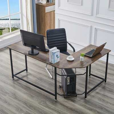 L-Shaped Desk With CPU Stand,Black - Wayfair