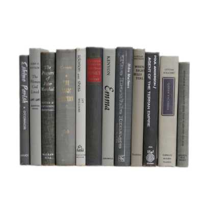 Booth & Williams Authentic Decorative Books - By Color Mid-century Granite ColorPak (1 Linear Foot, 10-12 Books) - Perigold