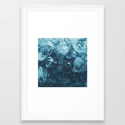 Aquamarine Gem Dreams Framed Art Print by Leah Flores - Scoop White - SMALL-15x21 - Society6