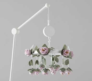Felted Lavender Roses Crib Mobile - Pottery Barn Kids