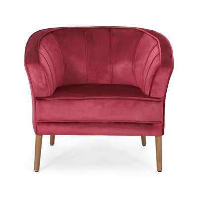 Topanga Velvet Barrel Chair - Wayfair