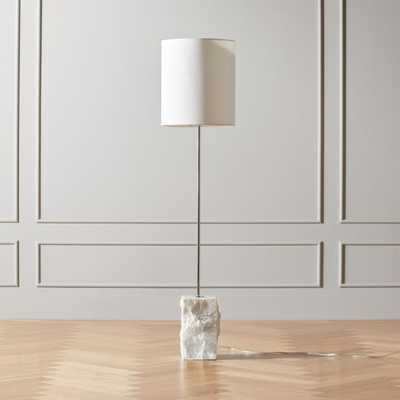 Raw Marble Floor Lamp - CB2