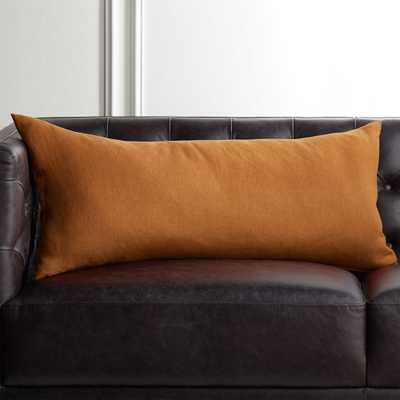 """36""""x16"""" Linon Copper Pillow with Down-Alternative Insert - CB2"""