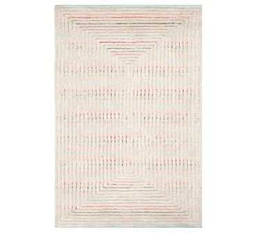 Concentric Rainbow Rug, 8x10', Pink Multi - Pottery Barn Kids