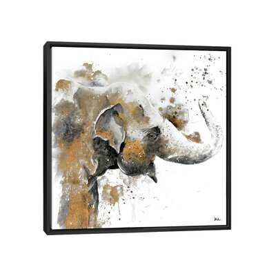 Water Elephant with Gold by Patricia Pinto - Painting Print - Wayfair