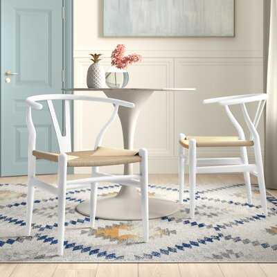 Solid Wood Slat Back Arm Chair (Set of two) - Wayfair