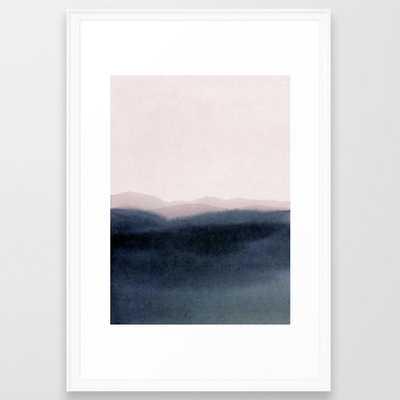 Dusk Scenery Framed Art Print by Iris Lehnhardt - Scoop White - LARGE (Gallery)-26x38 - Society6