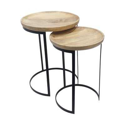 Newhall Solid Wood Drum Nesting Tables - Wayfair