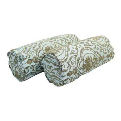 Mahesh Chenille Floral Bolster Pillow - Wayfair