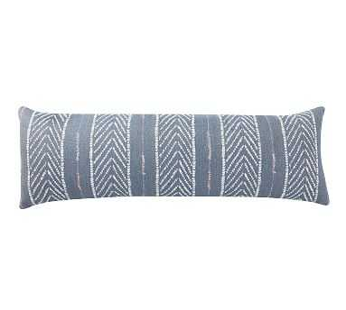 "Sunbrella(R) Quentin Woven Stripe Indoor/Outdoor Pillow, 11"" x 32"", Blue Multi - Pottery Barn"