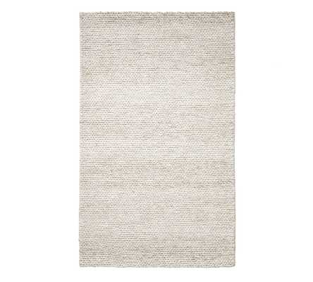 Chunky Knit Sweater Rug, 8 x 10', Heathered Oatmeal - Pottery Barn