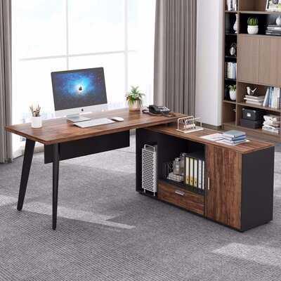 Quinlan Reversible L-Shape Executive Desk - Wayfair