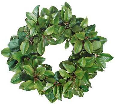 Faux Magnolia Leaf & Twig Wreath, 30'' - Pottery Barn