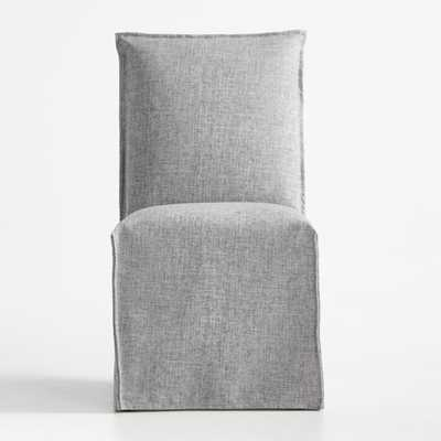 Addison Pumice Slipcovered Dining Chair - Crate and Barrel