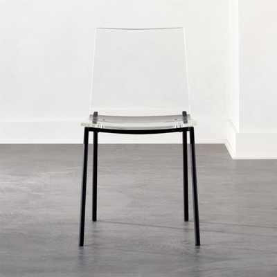 Chiaro Clear Chair Black - CB2
