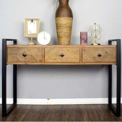Delphine 3 Drawer Console Table - Wayfair