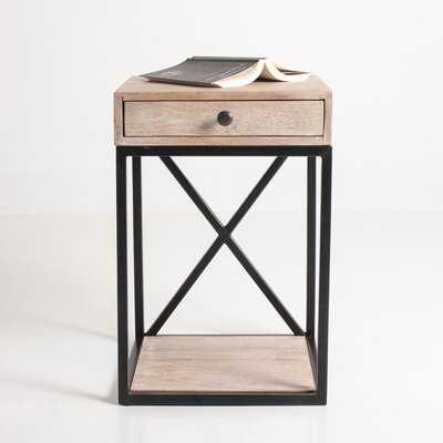 Christie Floor Shelf End Table with Storage - Wayfair