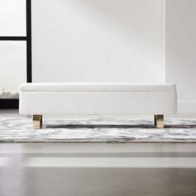 Link Ivory Storage Bench - CB2