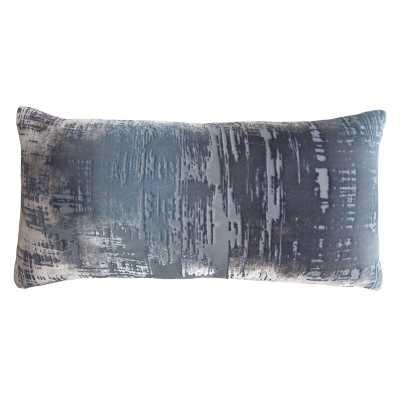 Brushstroke Down Abstract Lumbar Pillow Color: Dusk - Perigold