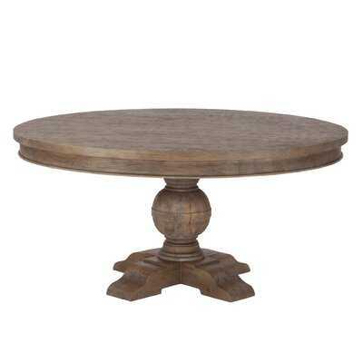 Musson Weathered Teak Dining Table - Wayfair
