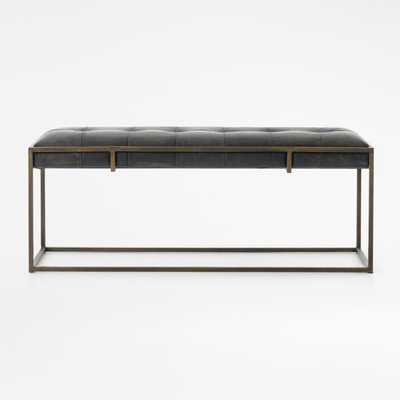 Ottilie Leather Bench - Crate and Barrel