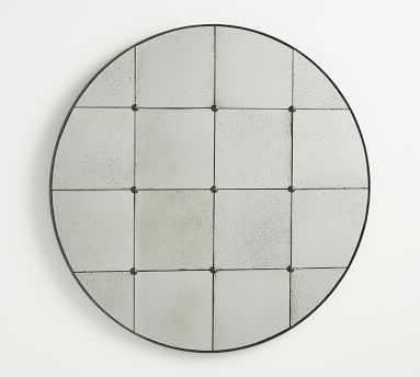 "Markle Round Antique Glass Wall Mirror, 40.5""W - Pottery Barn"