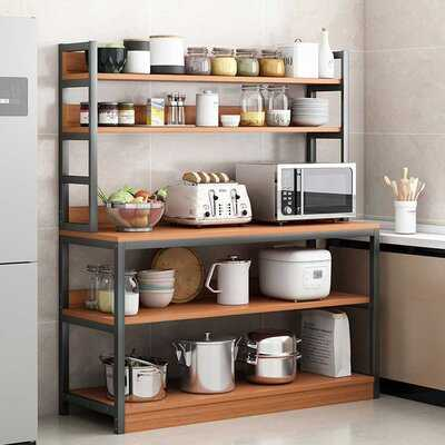 5 Tiers Kitchen Baker's Rack Utility Storage Shelf Microwave Stand Cart Kitchen Organizer Rack - Birch Lane