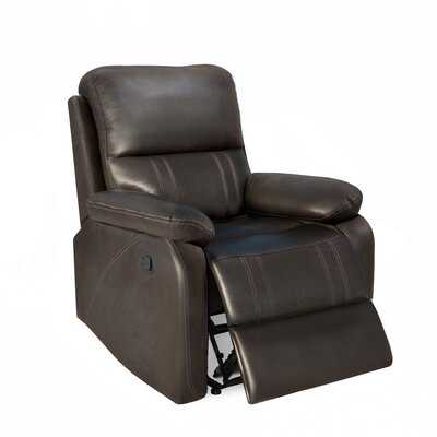 Recliner Chair With Padded Seat - Faux Leather Home Theater Seating - Manual Bedroom & Living Room Chair Reclining Sofa - Wayfair