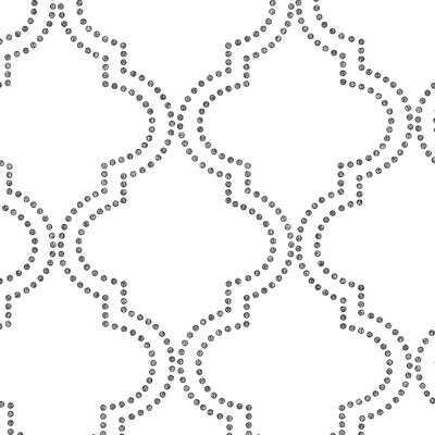 "Tarbox 33' x 20.5"" Quatrefoil Wallpaper Roll - Birch Lane"