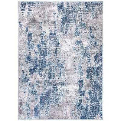 Maxey Abstract Navy/Gray Area Rug - Wayfair
