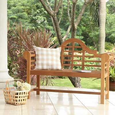 Wallie Teak Garden Bench - Birch Lane
