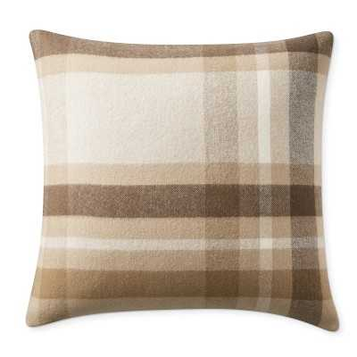 """Plaid Lambswool Pillow Cover, 22"""" X 22"""", Lewes - Williams Sonoma"""