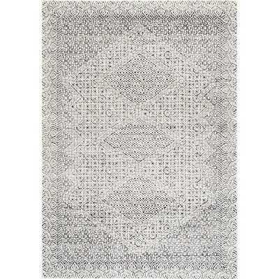 nuLOOM Mozaik Tribal Light Gray 8 ft. x 8 ft. Round Rug - Home Depot