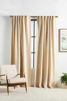 Luxe Linen Blend Curtain By Anthropologie in Beige Size 50X84 - Anthropologie