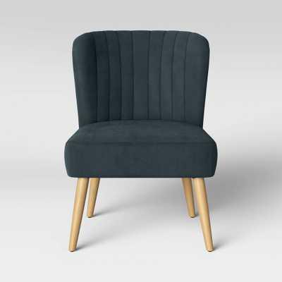 Chelidon Velvet Slipper Chair Blue - Opalhouse , Size: Assembly Required - Online Only - Target