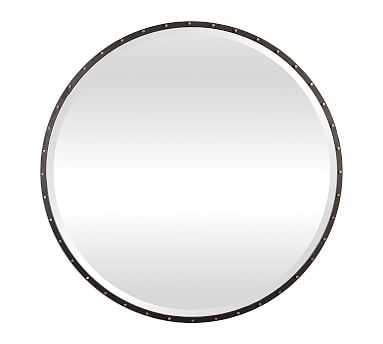 "Georgetown Round Mirror, Black, 42"" X 42"" 1"" - Pottery Barn"