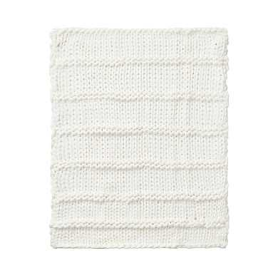 Super Chunky Knit Throw, 45X55, Ivory - Pottery Barn Teen