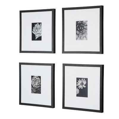 StyleWell Black Frame with White Matte Gallery Wall Picture Frames (Set of 4) - Home Depot